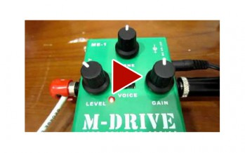 AMT M-DRIVE GUITAR EFFECT PEDAL DEMO REVIEW
