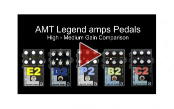 AMT Legend amps E2, D2, P2, B2 & C2 Comparison (High-Medium Gain)