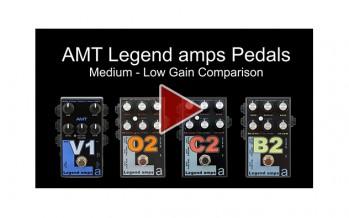 AMT Legend amps V1, O2, C2 & B2 Comparison (Medium-Low Gain)