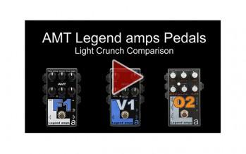 AMT Legend amps F1, V1 & O2 Comparison (Light Crunch)