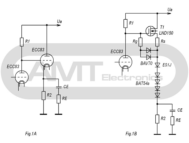 SOURCE FOLLOWER ON THE HIGH VOLTAGE MOSFET AS CATHODE