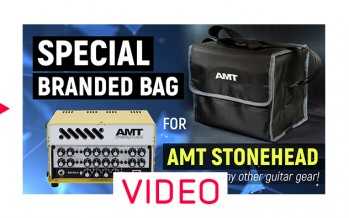 Bag for AMT Stonehead + guitar pedals (overview NO WORDS)