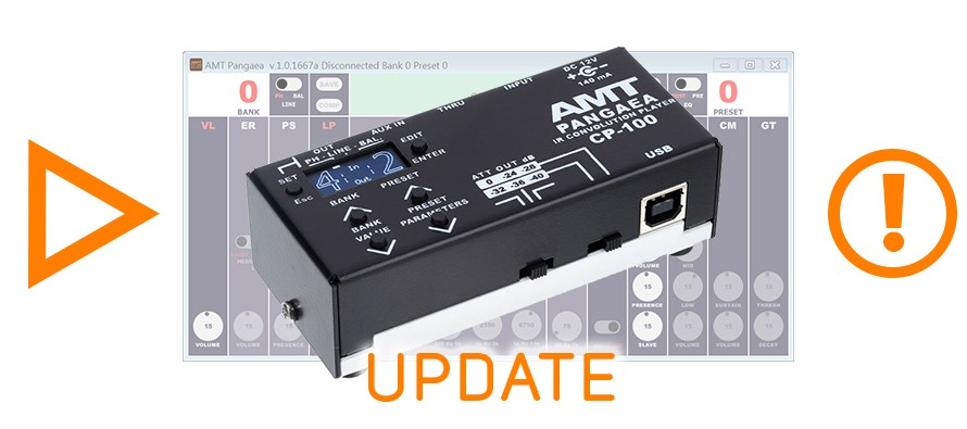 There are new firmware for Pangaea CP-100