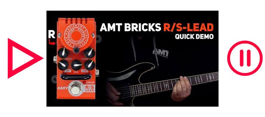 AMT Bricks R/S-Lead tube preamp DEMO (no talking)